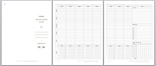 Thumbnail of Attendance and Grade Tracker for Homeschooled Students
